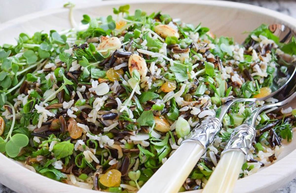 Wild Rice And Microgreen Salad