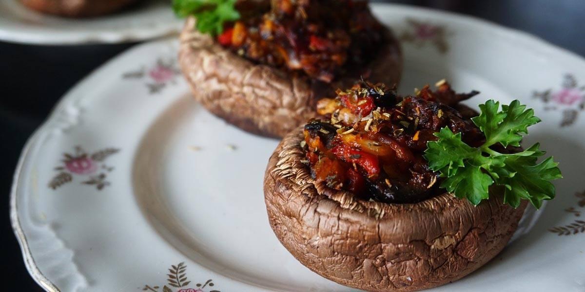 mushrooms roasted