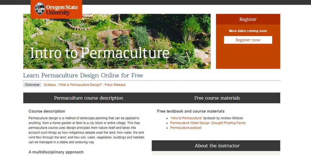 Oregon State University's Intro to Permaculture