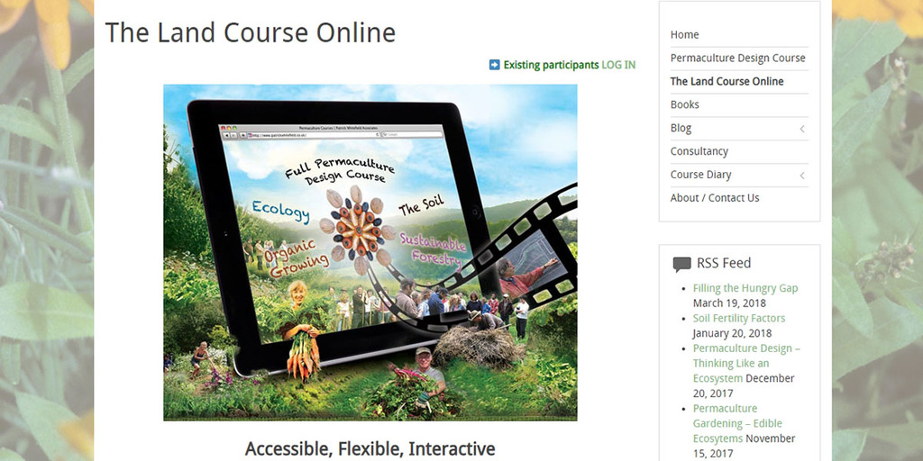 Patrick Whitefield Associates – The Land Course Online