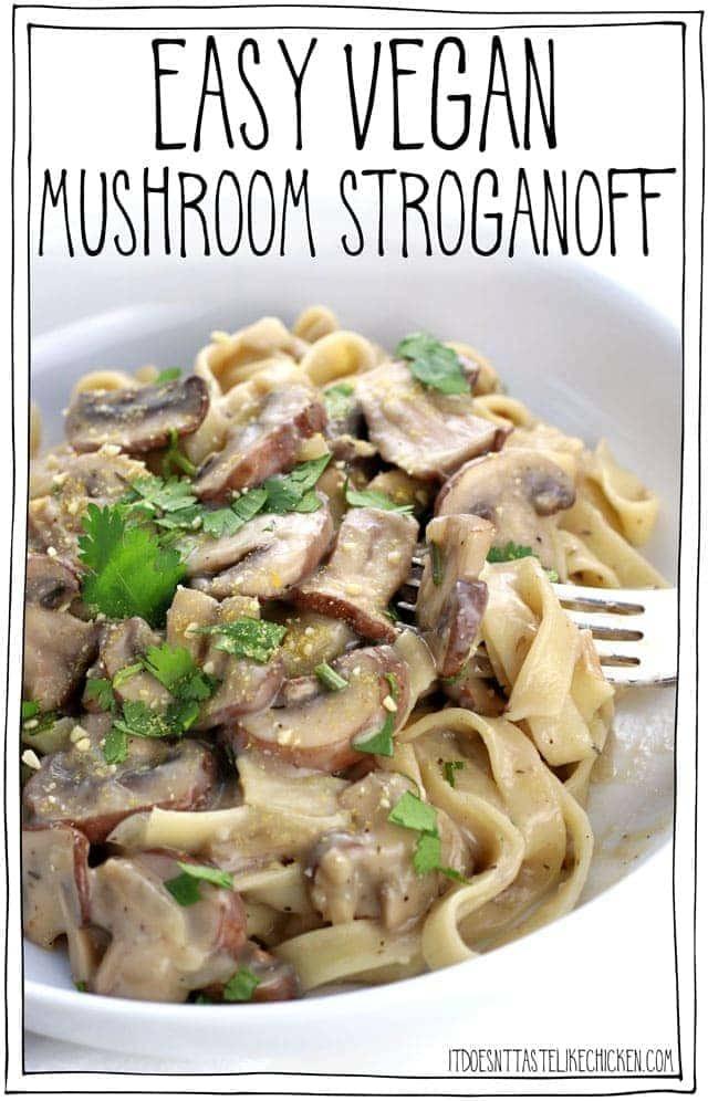 Easy Vegan Mushroom Stroganoff