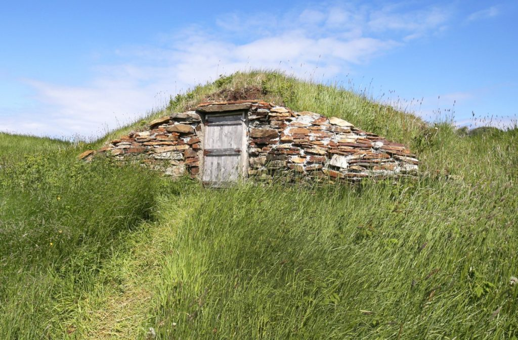 A root cellar on a remote homestead