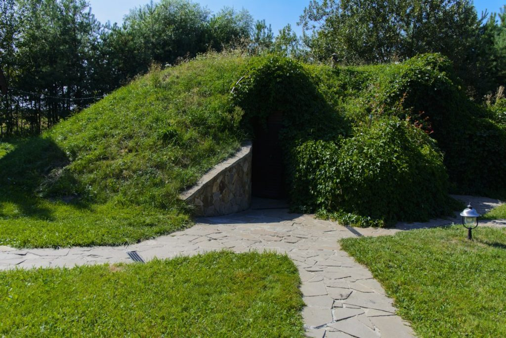 A root cellar built above ground. learn how to build a root cellar