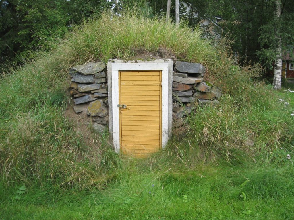 Learn how to build a root cellar like this one on your farm.