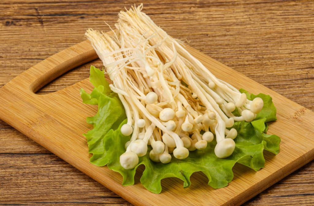 Enoki mushrooms are one of the most expensive mushrooms