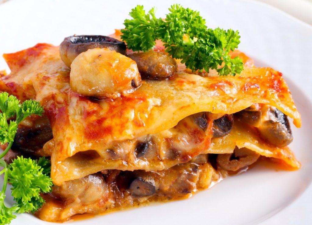 Mushroom lasagne